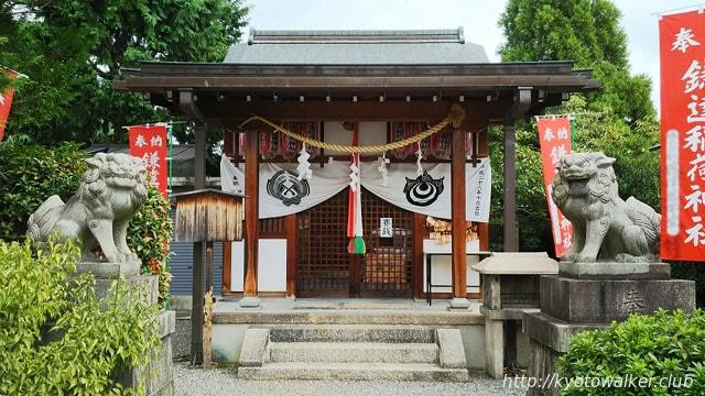 鎌達稲荷神社社殿