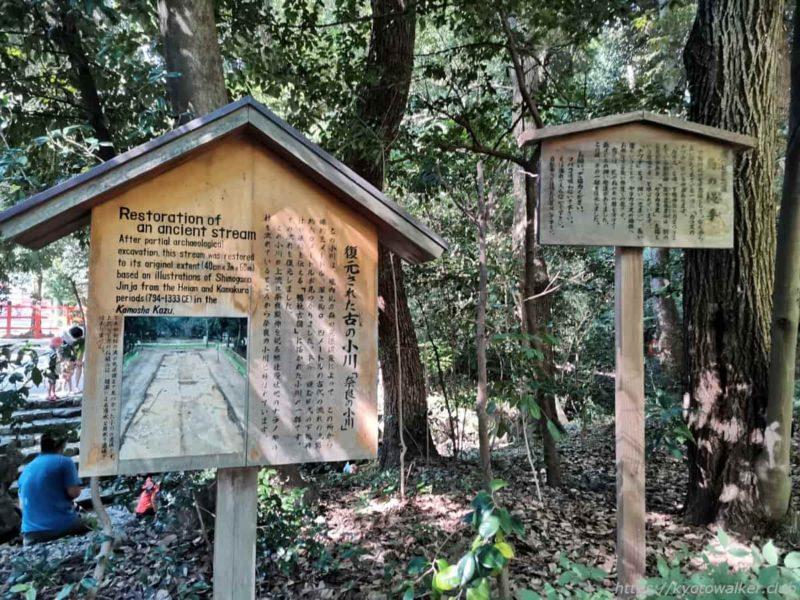 下鴨神社 いにしえの小川駒札 20210722