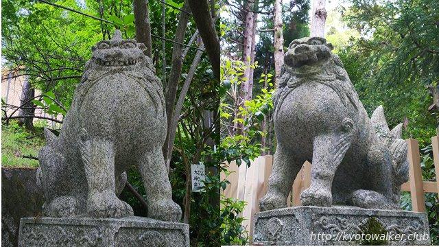大豊神社参道沿いの狛犬