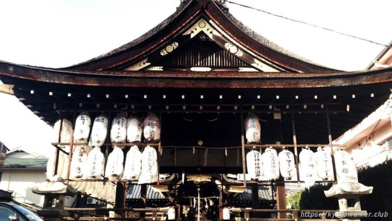 瀧尾神社の拝殿 修繕前