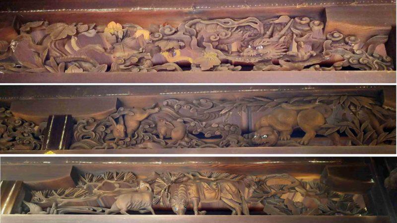 瀧尾神社の社殿の彫刻