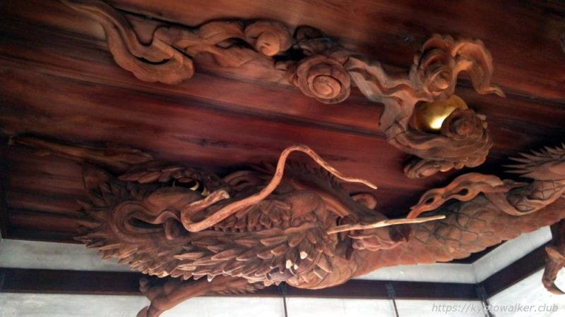 20160324の瀧尾神社の拝殿の天井の龍