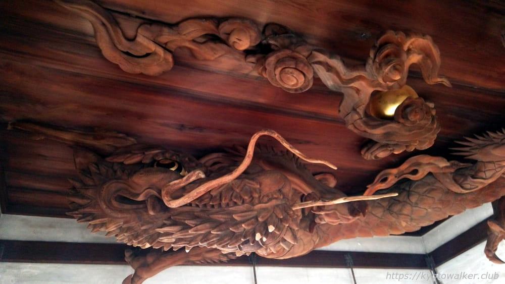 瀧尾神社 拝殿の天井の龍 20160324