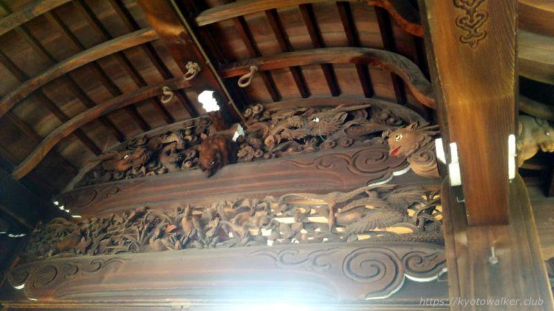 瀧尾神社の蟇股