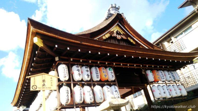 瀧尾神社の拝殿 提灯 20190331
