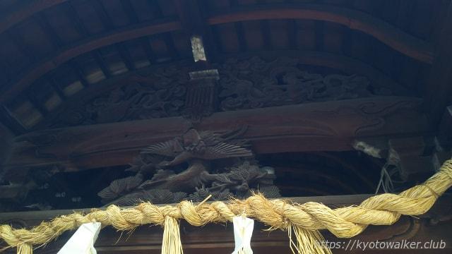 金札宮本殿の蟇股
