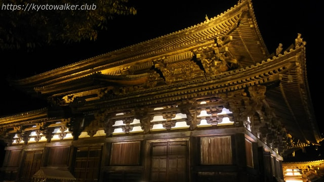 2017東寺夜間拝観1121の金堂