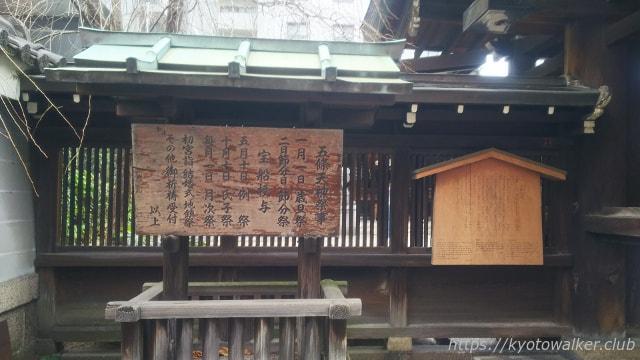 五条天神宮駒札と祭事の日