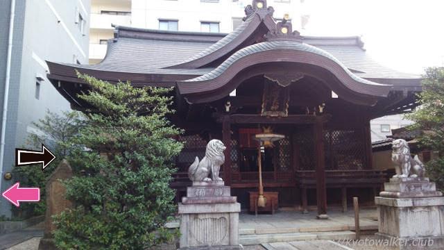 五条天神宮 社殿と社務所