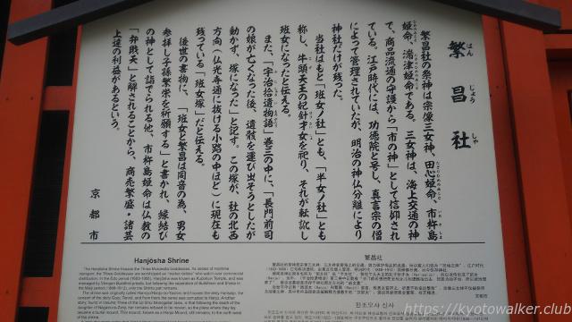 繁昌神社京都市駒札