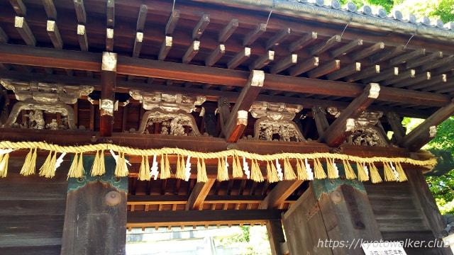 御香宮神社蟇股