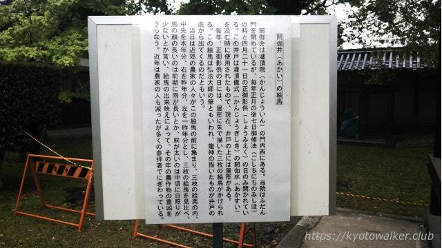 2016年4月21日 東寺 灌頂院の閼伽井の絵馬の説明