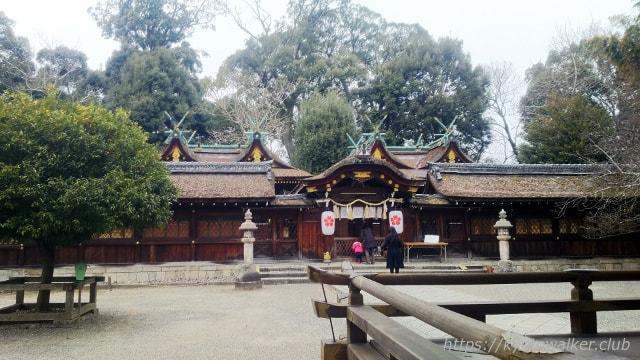 平野神社 拝所と社殿