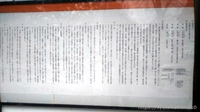 平野神社 境内の由緒書