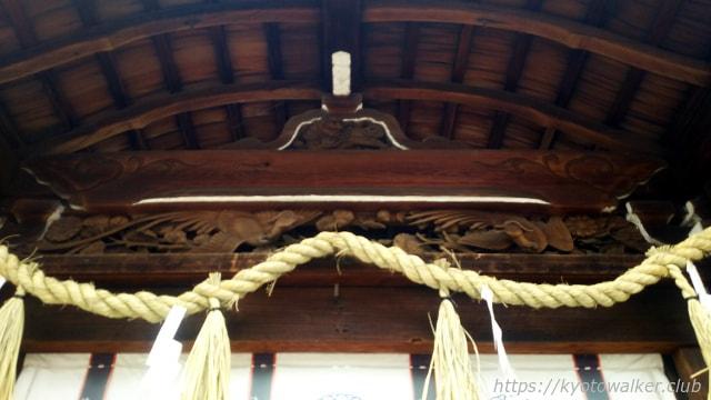 平野神社 拝所の蟇股