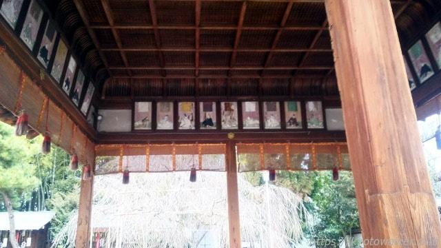 平野神社の拝殿内