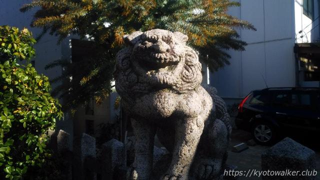 西院春日神社狛犬