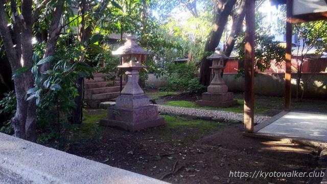 西院野々宮神社 拝所の奥