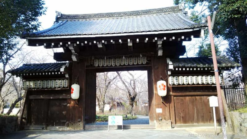 平野神社 御所の旧門を下賜されたという南門 20190114