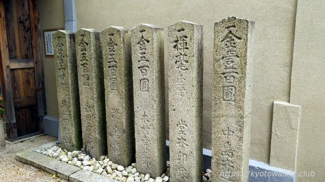 六道珍皇寺堂本印象の名入りの石碑