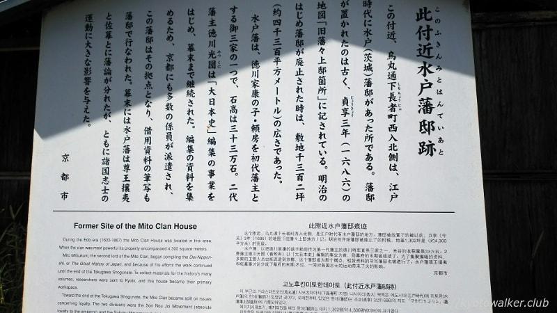 護王神社北水戸邸駒札