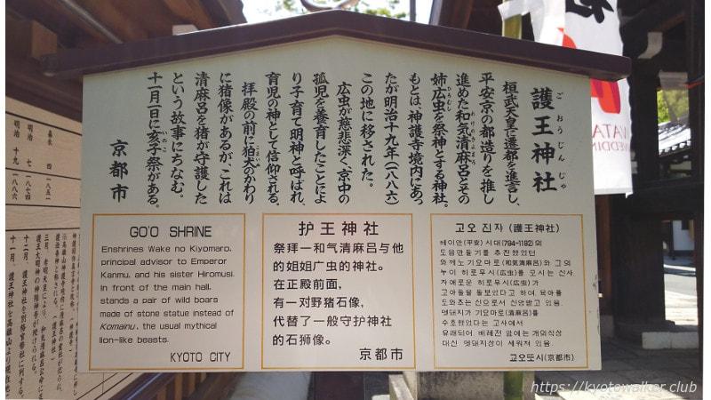 護王神社駒札