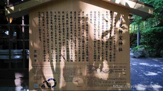 伏見神宝神社駒札