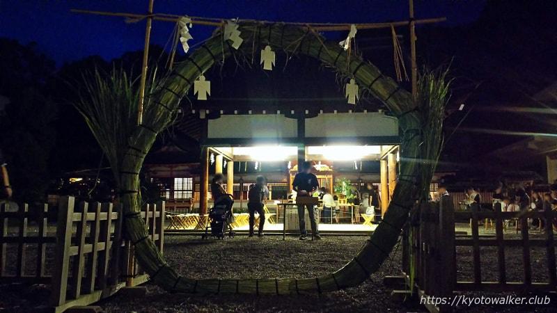 西院春日神社夏越の大祓の茅の輪