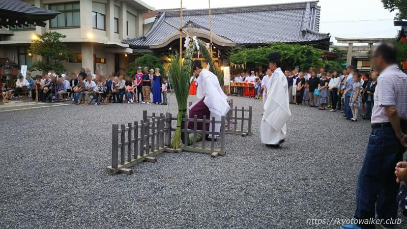 西院春日神社夏越の大祓