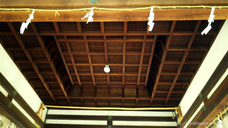 新日吉神宮 拝殿の天井