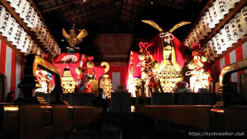 春日祭の夜の西院春日神社のお神輿