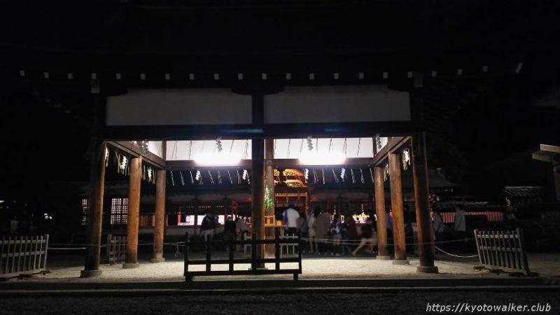 春日祭の夜の西院春日神社