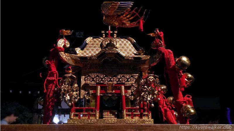 春日祭の夜の西院春日神社の子供神輿2