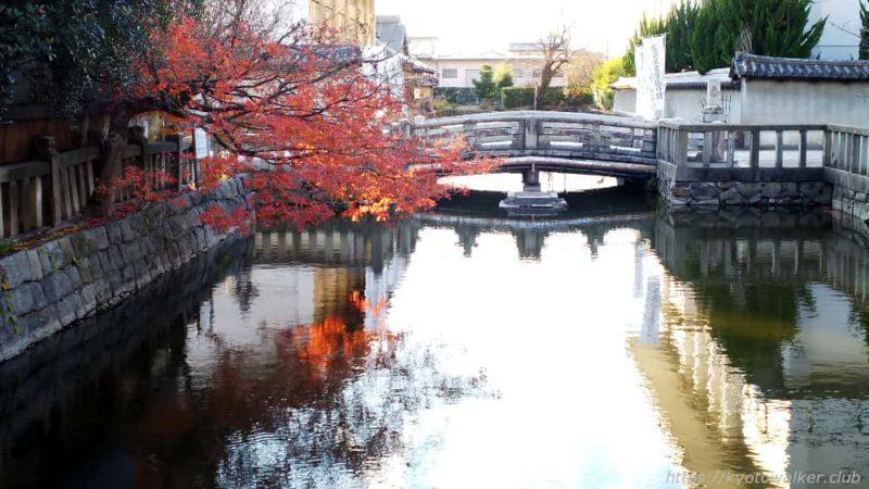 20181213 東寺 大元堂と弁天堂の間の橋の上から。
