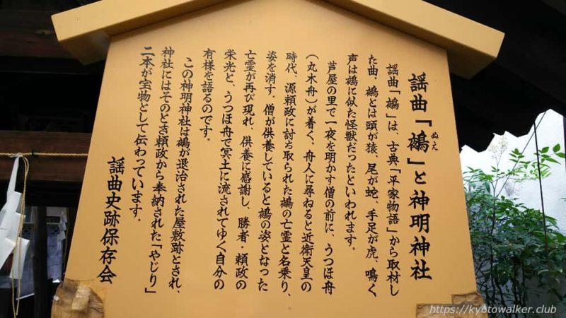 謡曲史跡保存会 「鵺」と神明神社