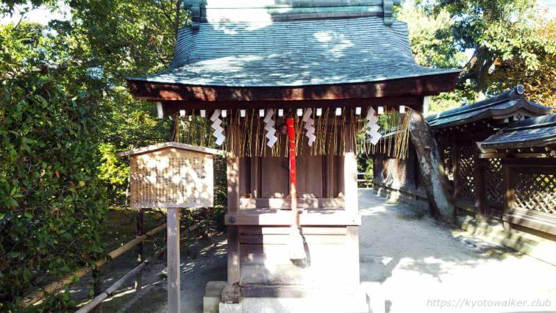 敷地神社(わら天神) 社殿横 大山祇神社 20190114
