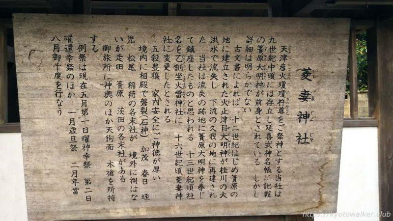 菱妻神社の由緒