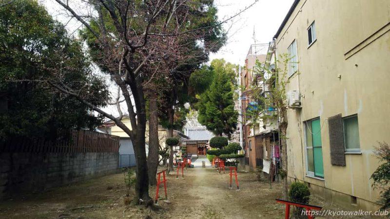 木下神社の参道