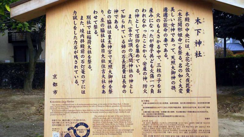 木下神社の駒札