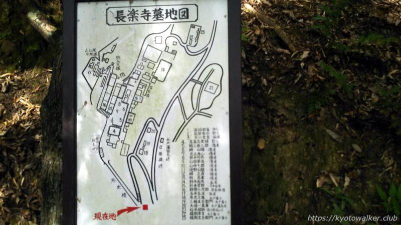 長楽寺 墓地図
