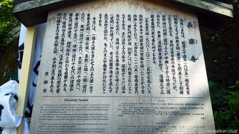 長楽寺 駒札
