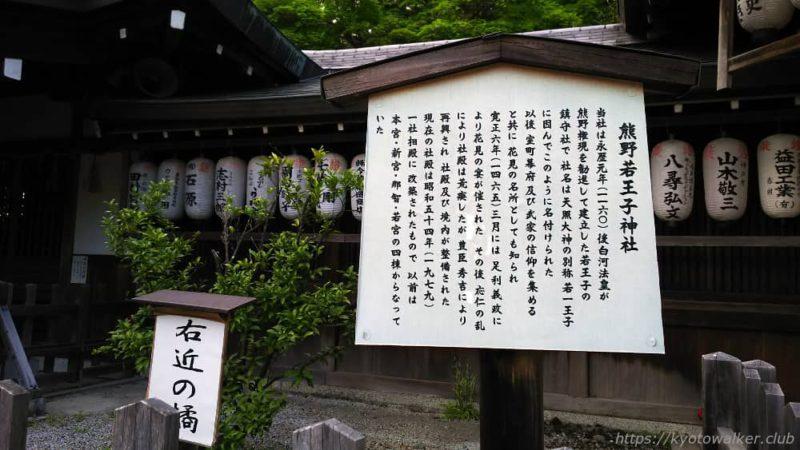 熊野若王子神社 説明 20170504