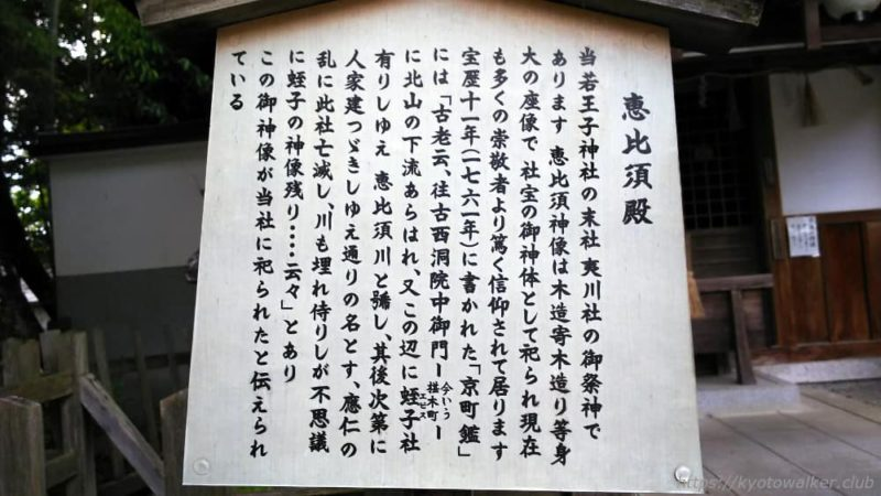 熊野若王子神社 恵比寿社 説明20170504