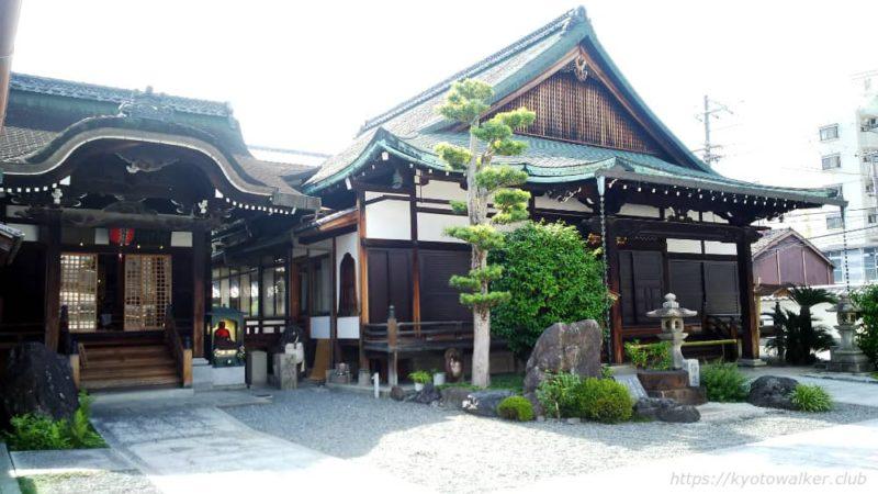 長圓寺の境内本堂と観音堂 20190530