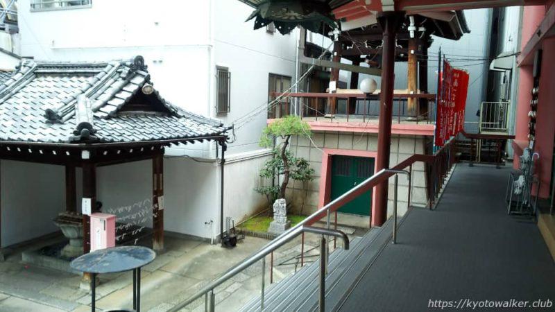 誓願寺 本堂前から見た梵鐘