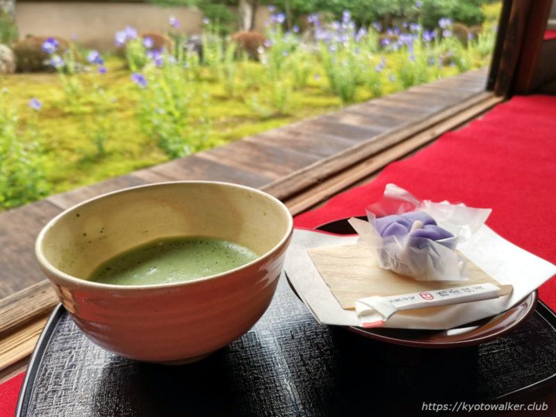 天徳院 20200629 お抹茶とお菓子 800円