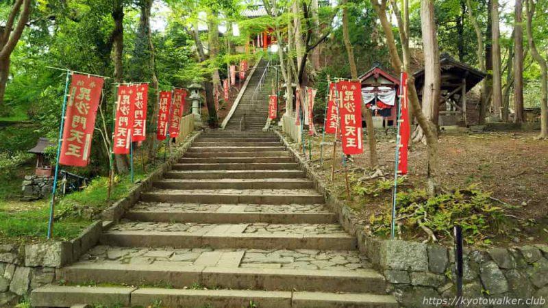 毘沙門堂門跡 山門へ続く階段
