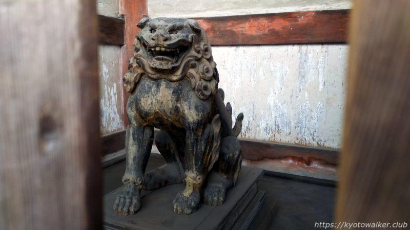 仁和寺 二王門 裏 唐獅子像 20191010