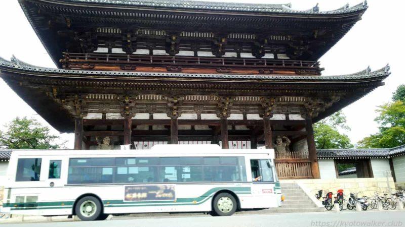 仁和寺 門前 バスと比較 20191010