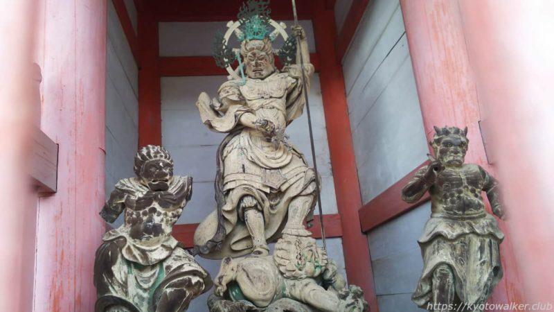 仁和寺 中門の東方天 20191010